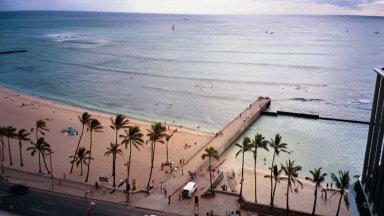 This is the view of Waikiki Beach that we had while were in the hotel.