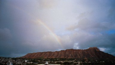 Here you can see Diamond Head with a rainbow - needless to say, we've see lots of those since arriving!