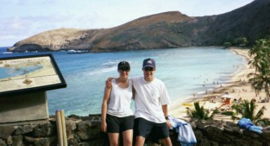 Bob and Mo at Hanauma Bay
